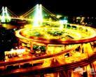 黄浦江上的姐妹桥