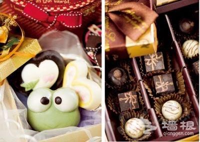 各式各样的巧克力