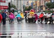 北京阴雨连绵秋意浓 中秋天气晴好利赏月
