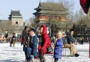 """约会冰场 北京城里滑冰场上""""练手脚"""""""