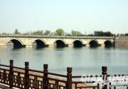 """北京晓月湖开始蓄水 """"卢沟晓月""""美景重现"""