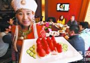 北京昌平快乐农庄草莓园烹制草莓宴