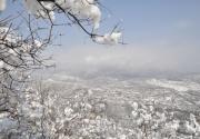 京城三月飞雪,银装京西古道