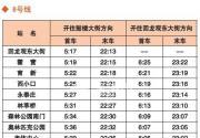北京地铁8号线首末班车时间表