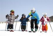 周末京郊滑雪 逃离北京雾霾天气