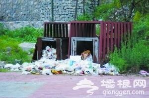 北京永定河畔美景被践踏 遍地垃圾[墙根网]