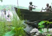 """让我们荡起双桨""""铜塑在北海公园落成"""