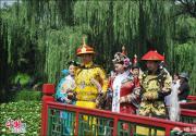 圆明园荷花节每周末上演穿越山水情景剧