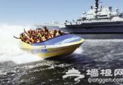 去滨海航母主题公园体验水上过山车