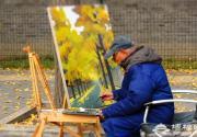 金秋摄影游 北京城里的银杏大道