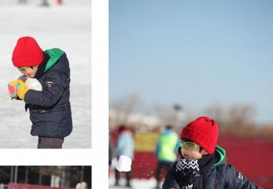 温都水城滑雪场之萌娃快乐冰雪记