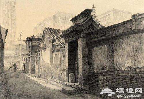 老北京胡同(速写)
