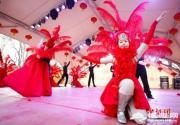 圓明園皇家廟會演出彩排 中西歌舞賀新春