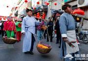 大栅栏民俗风情展 吆喝老北京年俗
