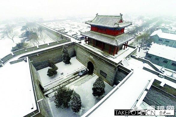 北京下雪美如画 雪映宛平城银装素裹[墙根网]