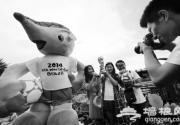 世界杯吉祥物耍宝什刹海