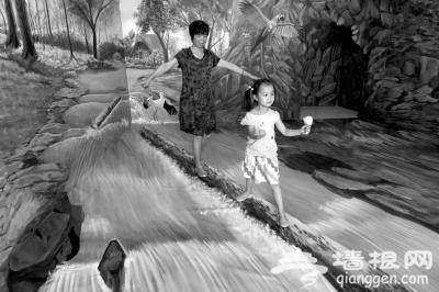 走进中华世纪坛3D画开心过暑假[墙根网]