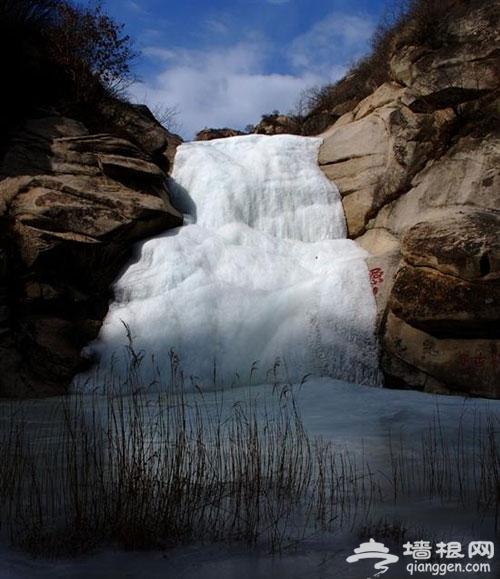 桃源仙谷攀冰 冰瀑墙百余宽