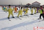 2015延庆第29届冰雪欢乐节开启 小学生滑雪场上体育课