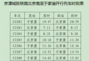 京津城际延伸线开通