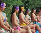 人体彩绘助兴芜湖丫山牡丹节引围观