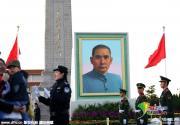 孙中山巨幅画像亮相天安门广场