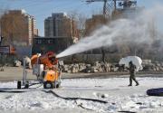 市内冰雪乐园本周六开业 位于望京桥旁的太阳宫公园