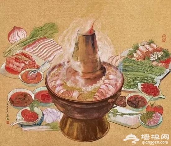 天冷就想来一顿京式铜锅涮肉[墙根网]