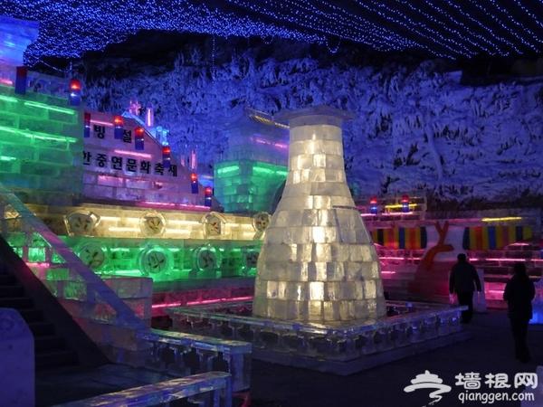2016年延庆龙庆峡冰灯节 流光溢彩与冰雪共舞[墙根网]