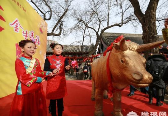 2016立春文化节 鞭打春牛文化旅游活动在古观象台举行