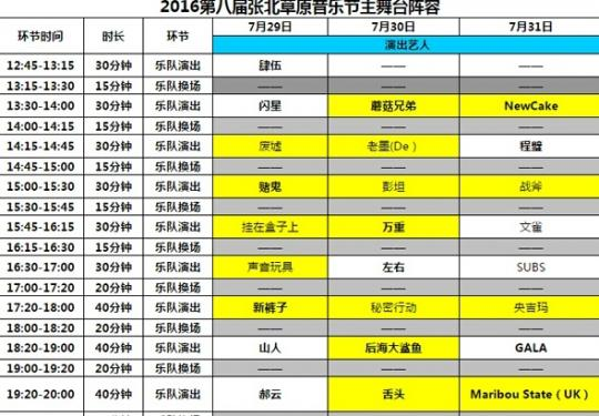 2016张北草原音乐节 释放灵魂 回归初心