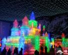 2017龙庆峡冰灯节正在取冰,预计1月中旬开幕