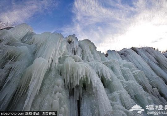 京西冰雪季好去处 门头沟神泉峡景区赏冰瀑!