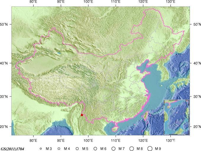 2月2日8时48分云南德宏州瑞丽市发生4.3级地震
