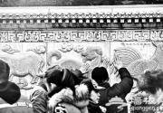 北京白云观生肖雕像被摸得发亮 游客排几十米长队