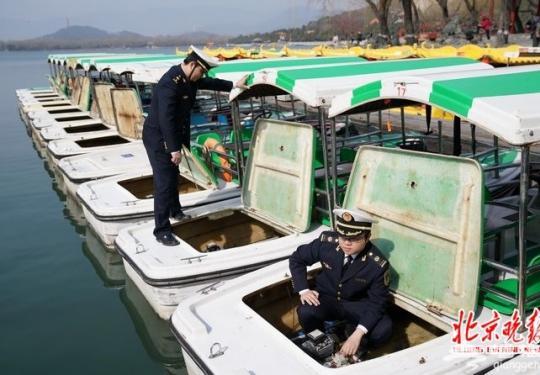 北京颐和园游船预计周三开航 风力大于4级时段停止出船