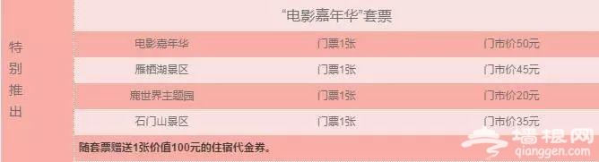 """""""北京电影节嘉年华""""88元套票,玩转怀柔四大景区![墙根网]"""