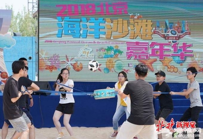 北京海洋沙滩嘉年华开幕:戏水玩沙 世界杯游乐活动丰富[墙根网]
