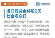 2018上海进博会普通观众参观日时间确定 11月9日-10日