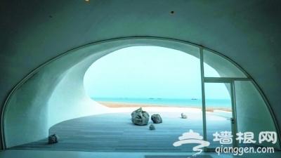 隐身北戴河海滩 沙丘美术馆里能看海