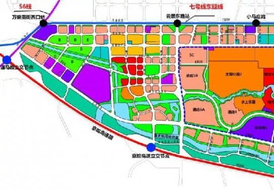 通州文化旅游区重要规划图出炉 环球主题公园主体年底动工