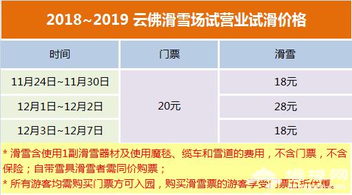 2018-19密云云佛山滑雪场雪季时间、门票、交通指南[墙根网]