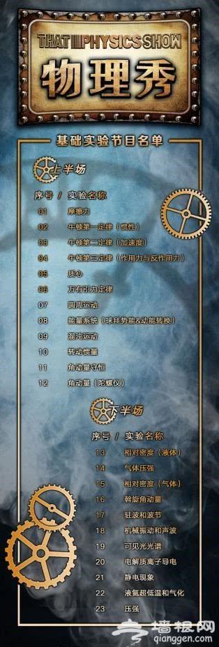 百老汇互动亲子科学剧《物理秀》中文版时间、地点、票价[墙根网]