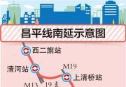 北京地鐵昌平線南延示意圖公布 南延7站5站可換乘