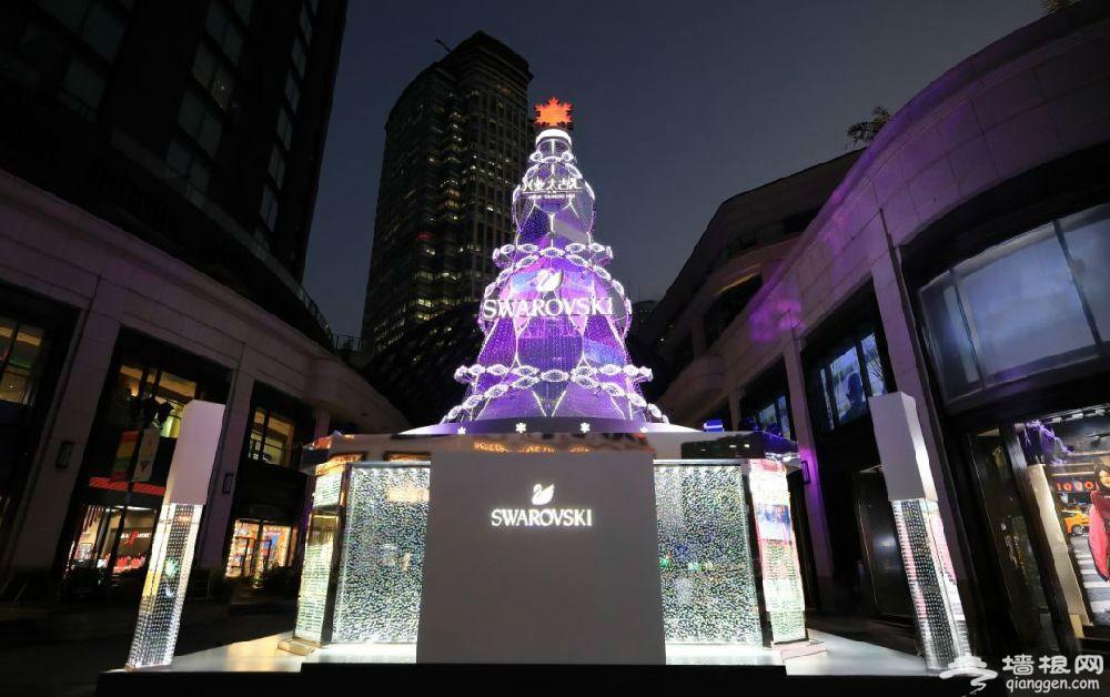 2019上海静安区圣诞树上线 超梦幻 (图)