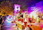 非遗花灯遇上潮绿电音 天津欢乐谷圣诞新年趴了解一下