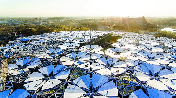 北京世界园艺博览会4月29日开幕 中国馆成首个整体亮相场馆[墙根网]