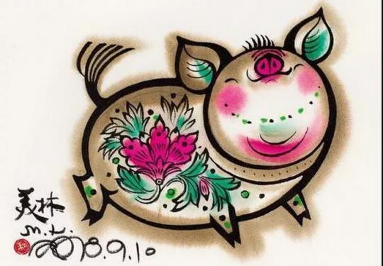 己亥新春展览,韩美林的萌猪不输佩奇