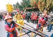"""2019地坛庙会 鼓乐齐鸣迎""""皇帝"""" 叩头百次祭地神"""