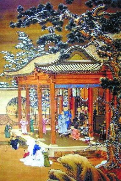 旧时京城雪